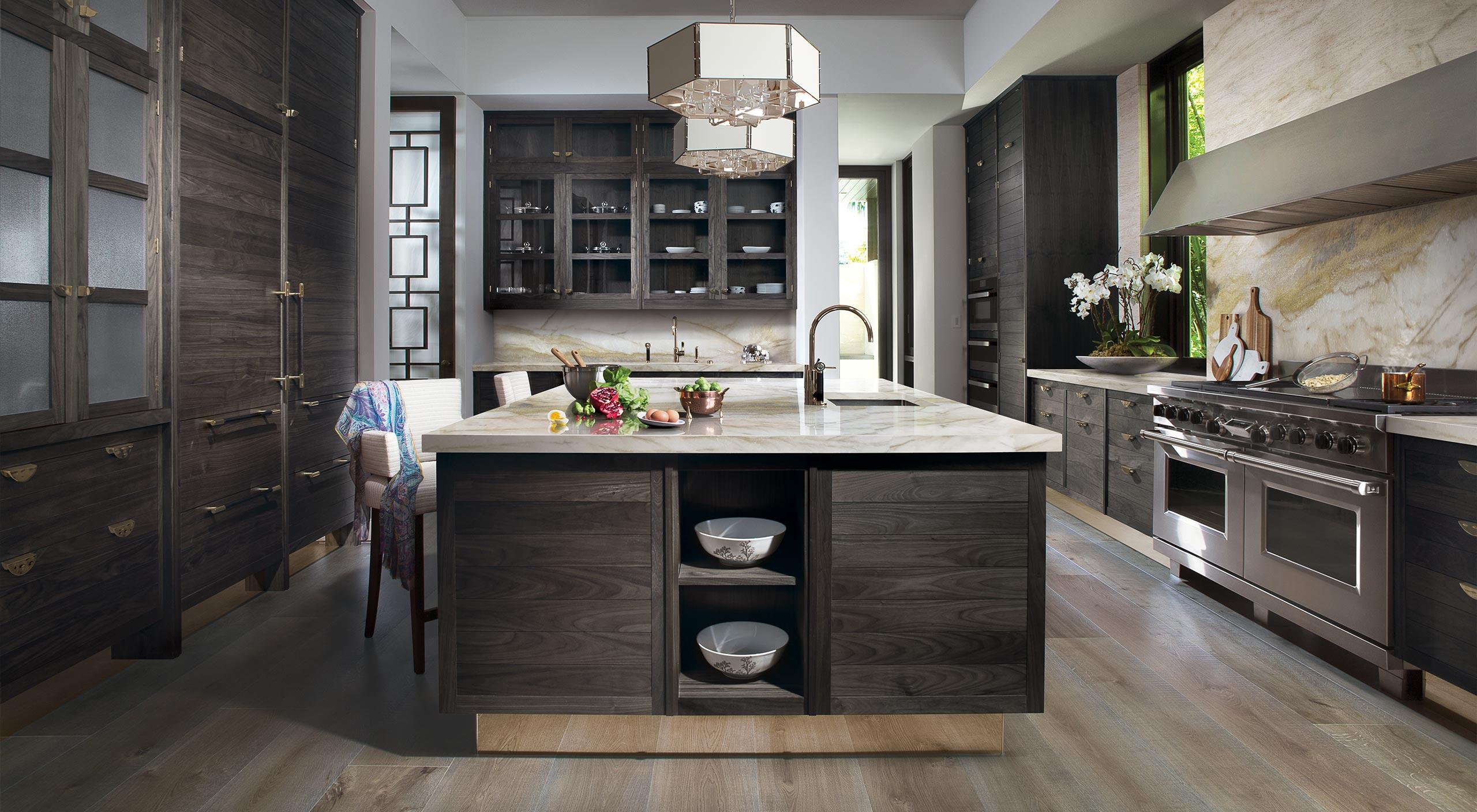 A bespoke Macassar kitchen by Smallbone