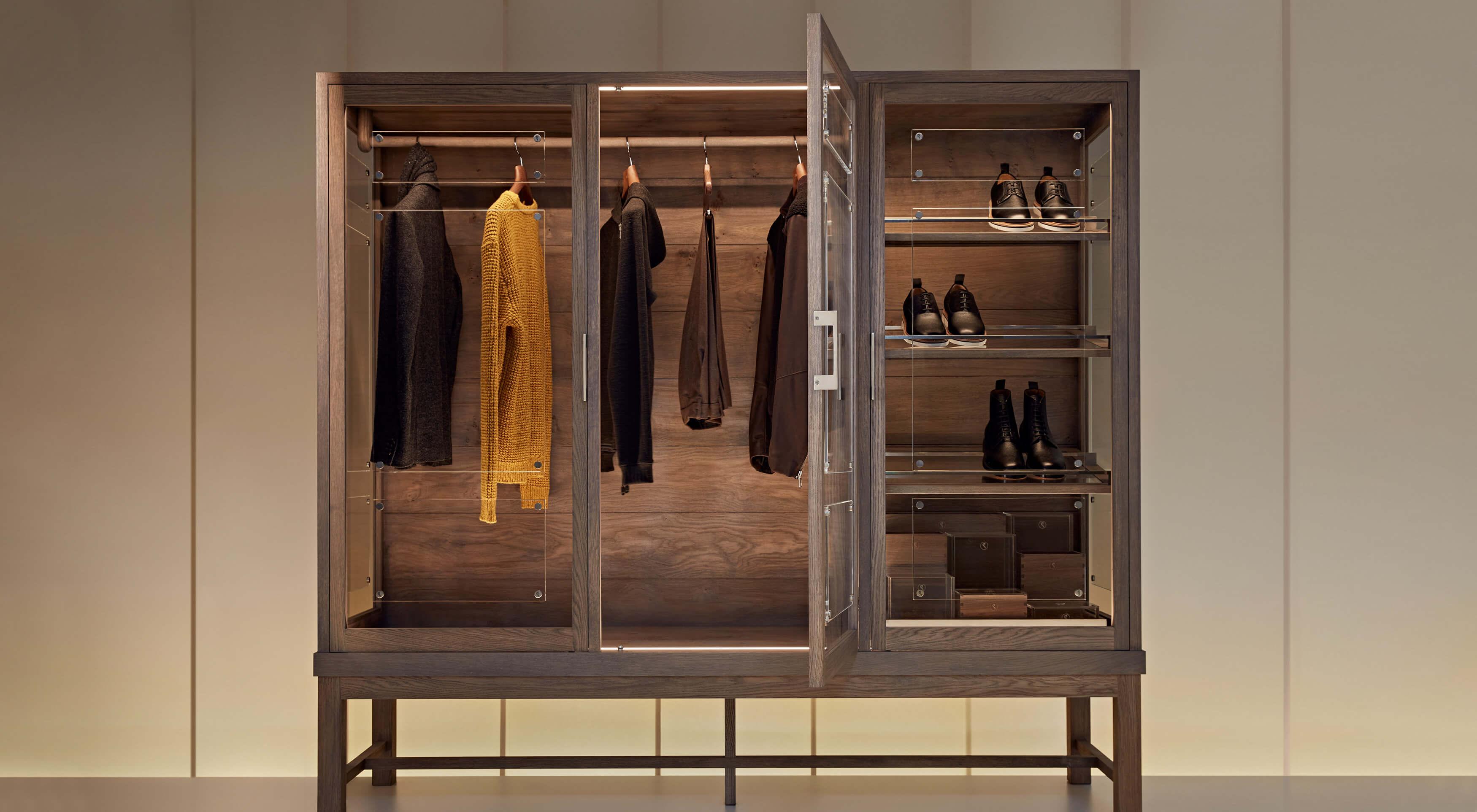Smallbone bespoke walk in wardrobe furniture