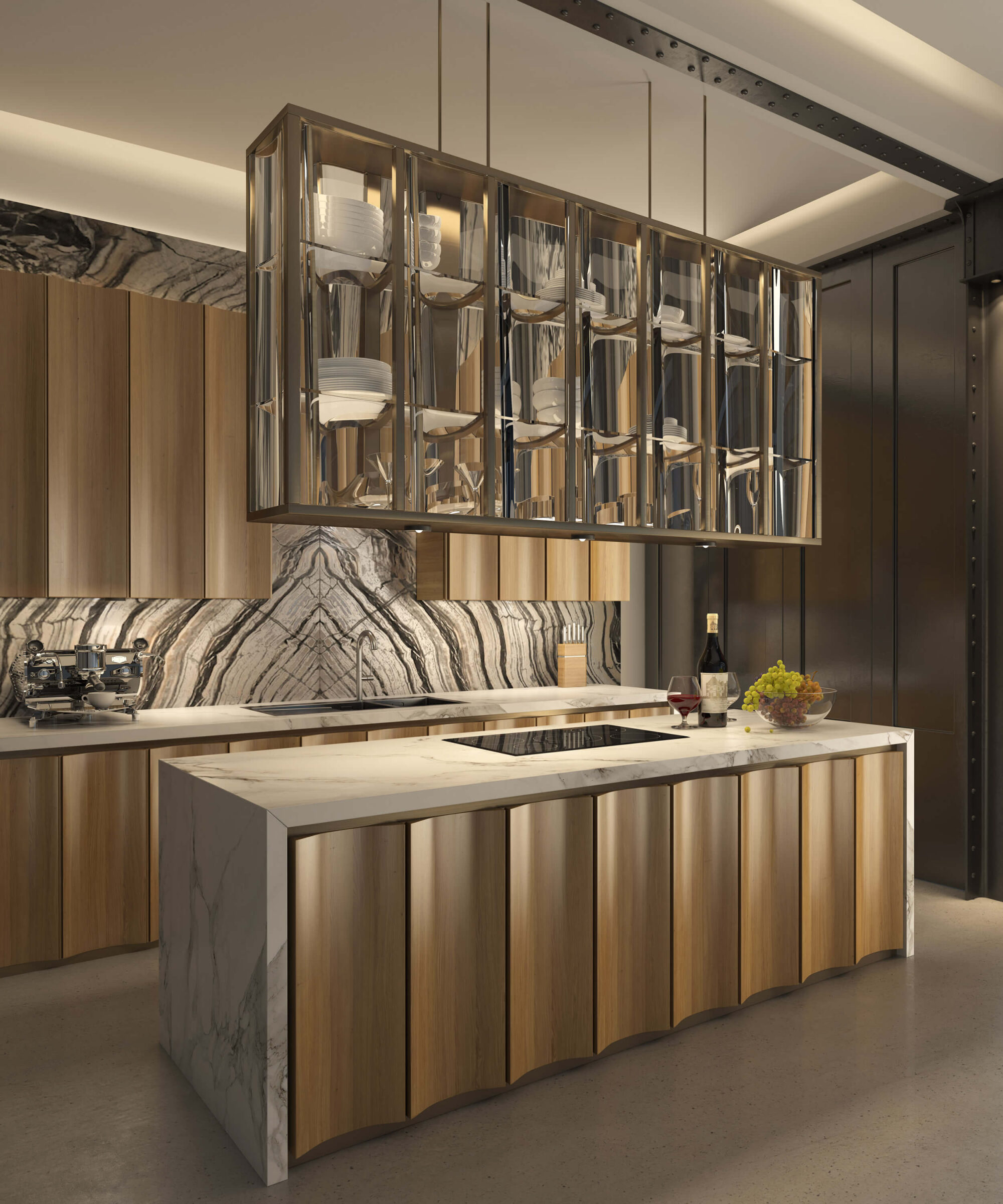 Smallbone's Icarus Kitchen in the new Brompton Gate Showroom, London