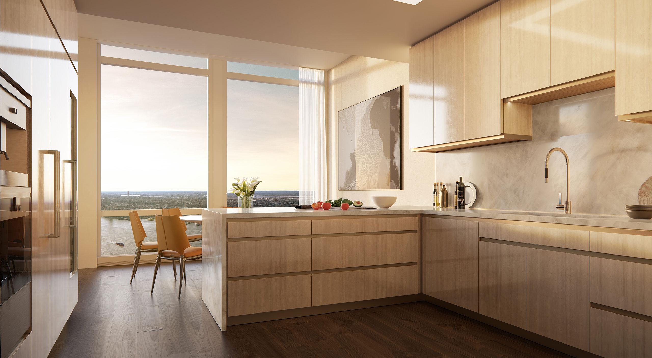 A Smallbone kitchen in 35 Hudsons Yard. New York