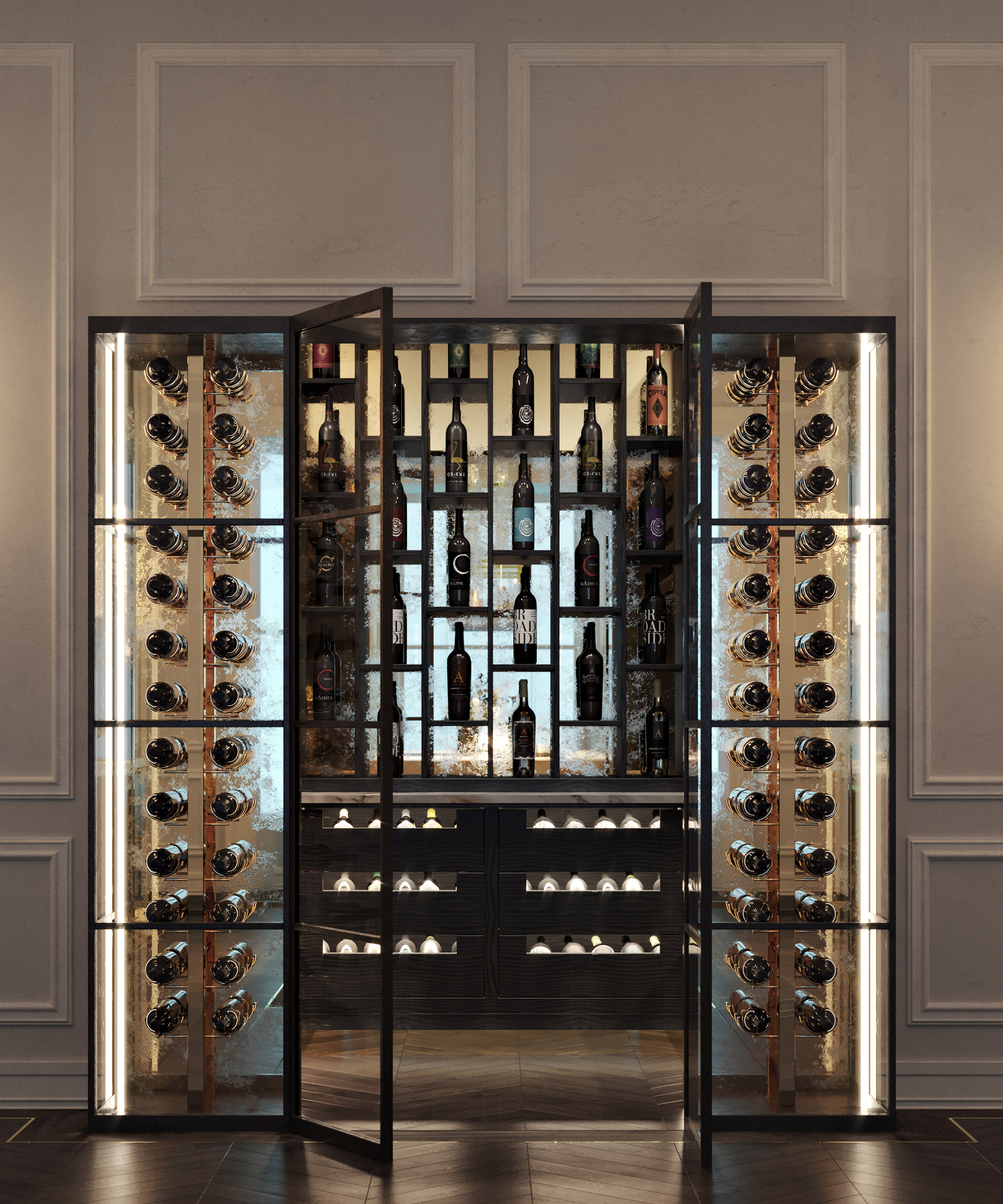 A Smallbone Icarus wine room