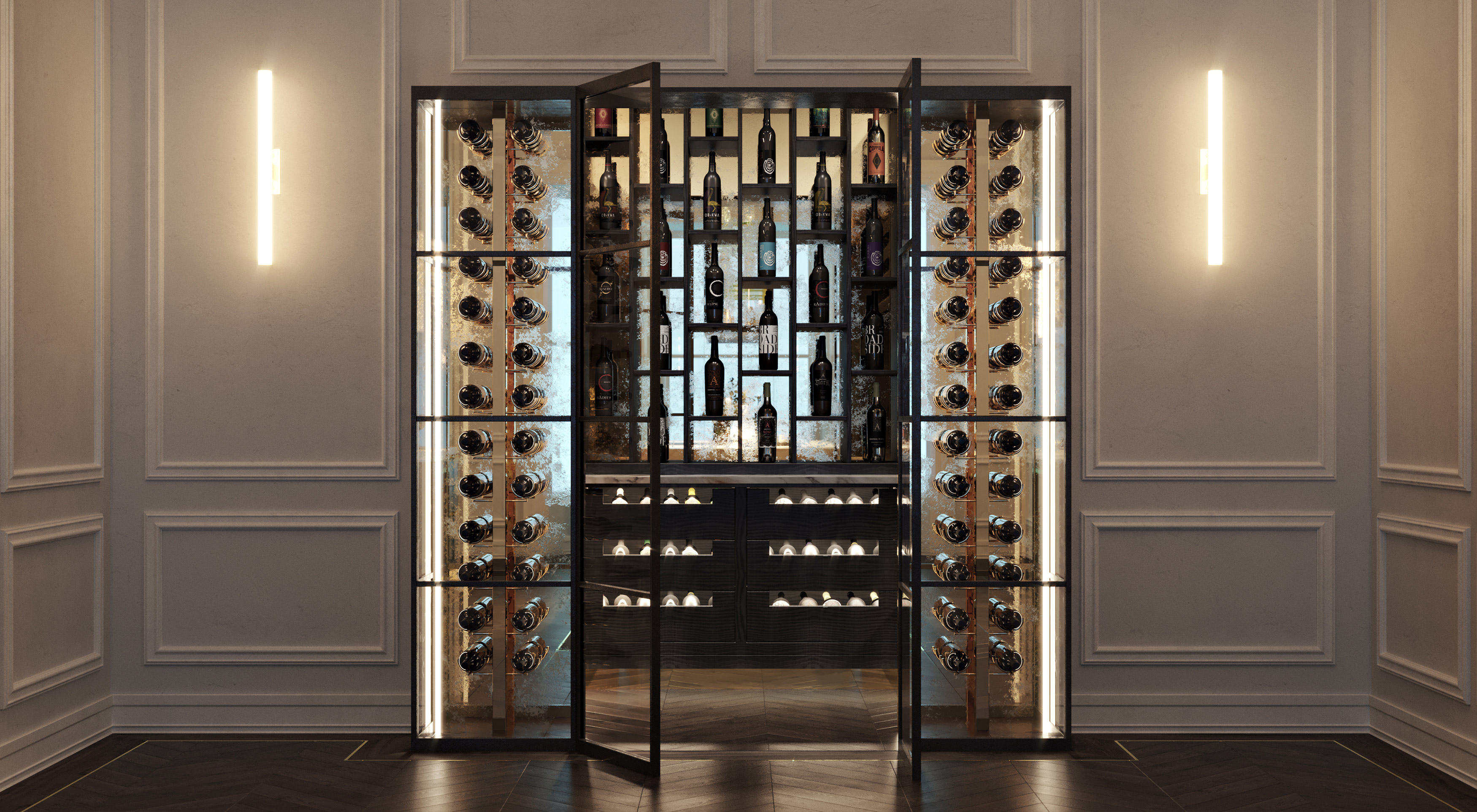 Smallbone Icarus wine room collection