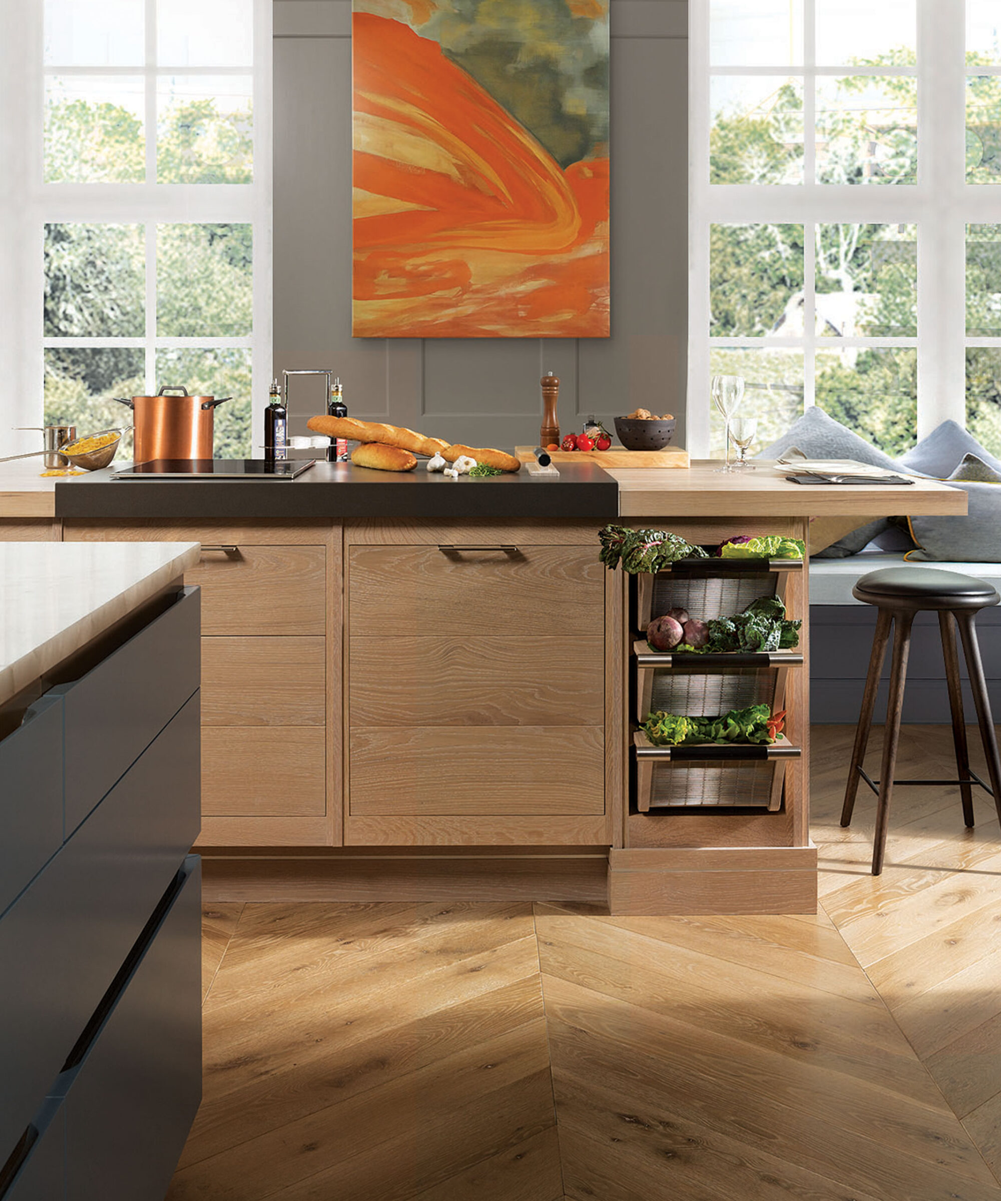 A Brasseire collection kitchen by Smallbone with pull out metal vegetable racks.jpg