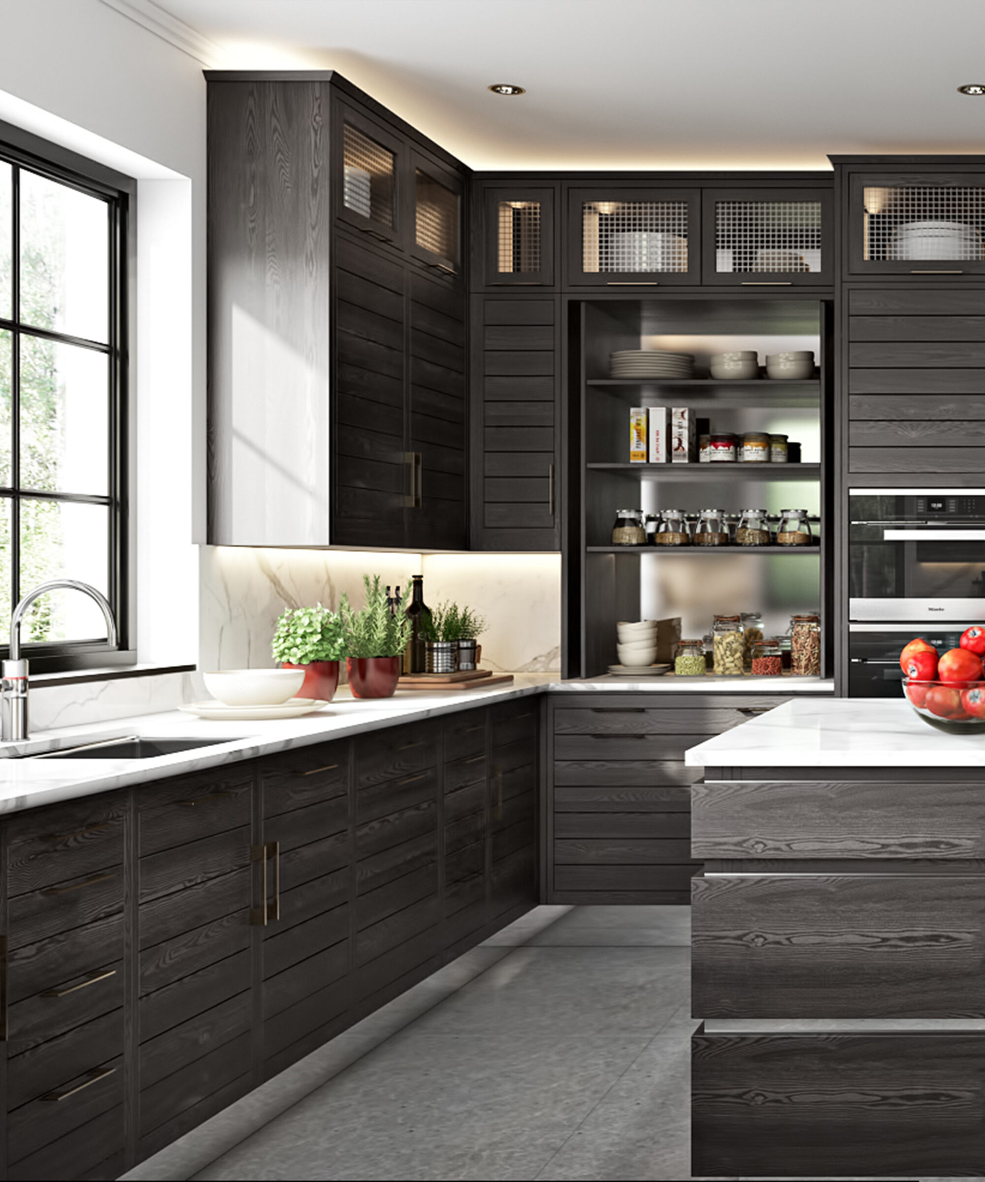 A Naples collection kitchen pantry by Smallbone