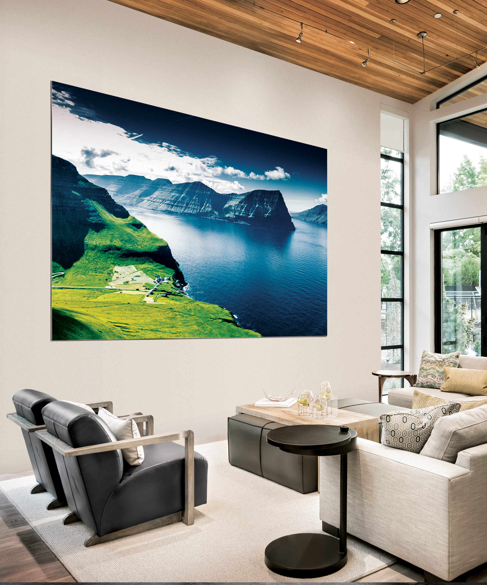 The Wall by Samsung in a residential sitting room