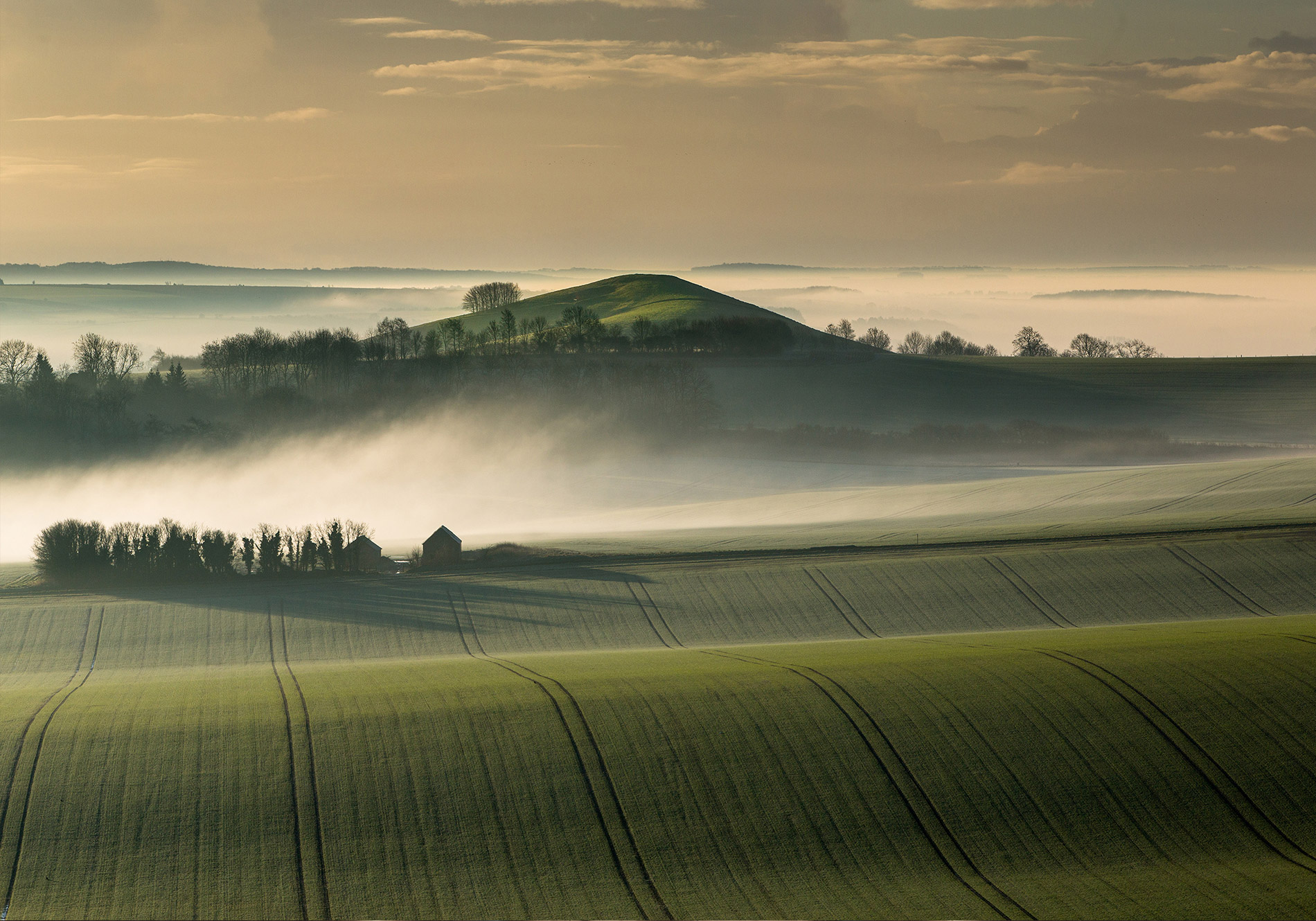 A landscape view of the Wiltshire countryside